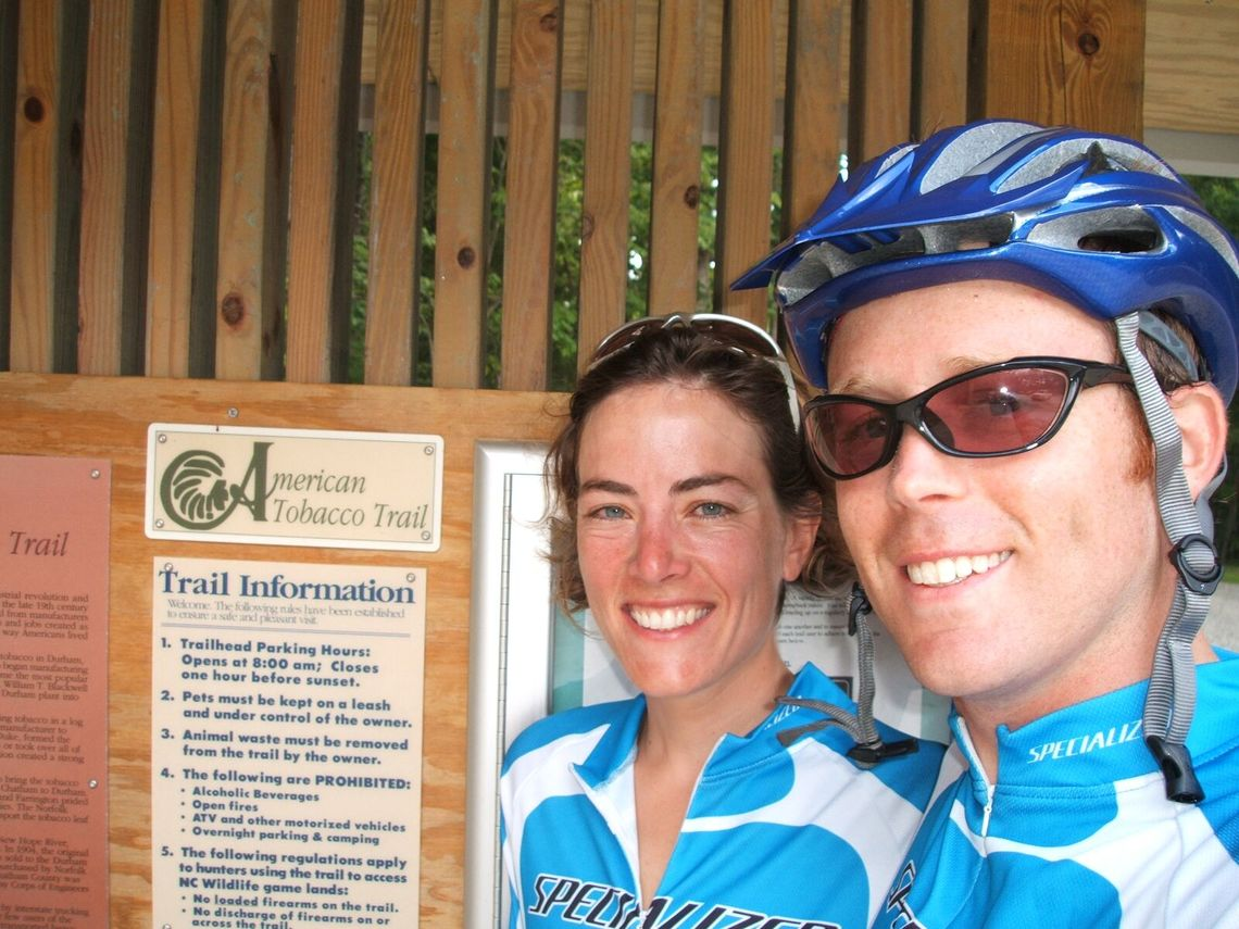 Jenny and Wil Hylton, through-cyclists in 2005.
