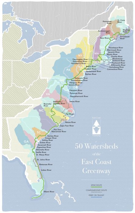 East Coast Greenway - River Facts