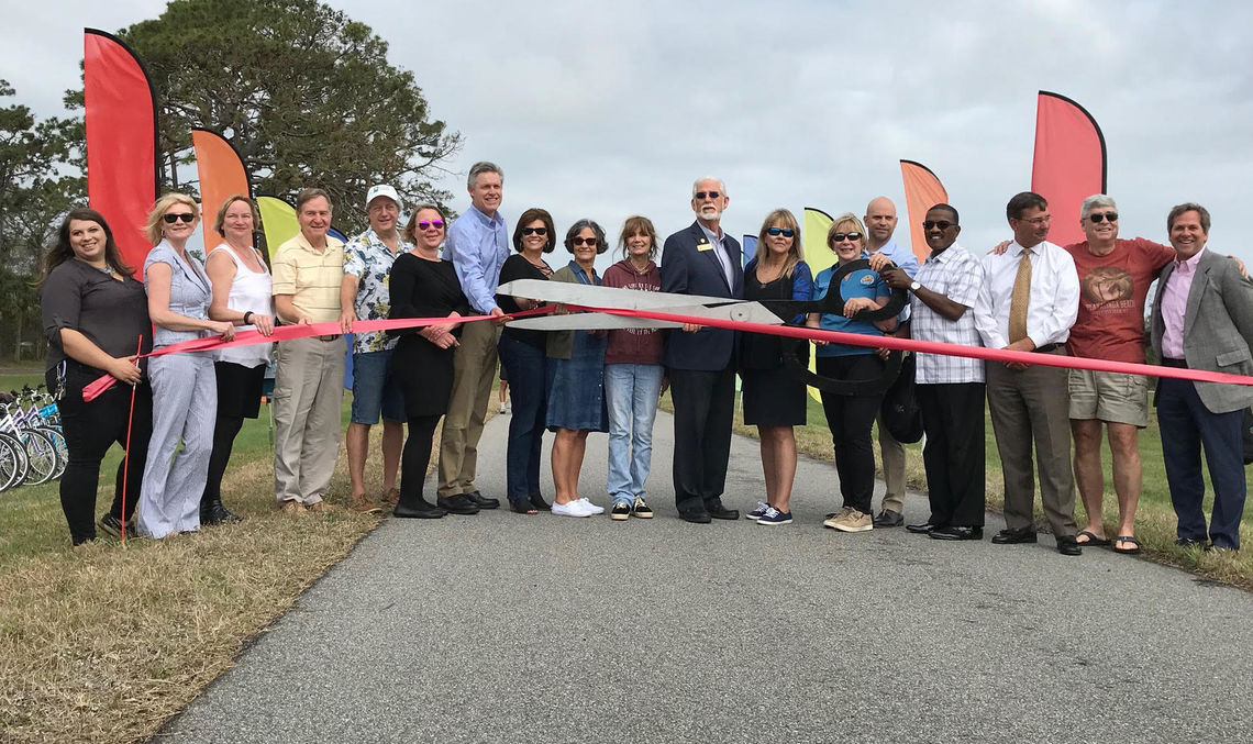 Florida and Titusville officials and VIPs celebrate the trail opening. Photo by Lisa Hamel, Hometown News