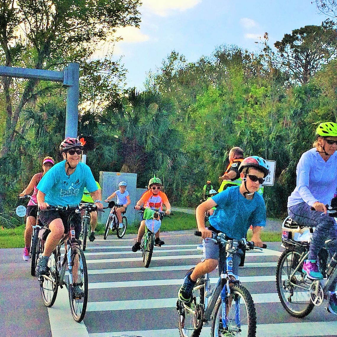 Cyclists of all ages test out the new trail, which intersects with Florida's Coast to Coast Trail (220 miles), the St. Johns River to Sea Loop Trail (260 miles) and the East Coast Greenway.