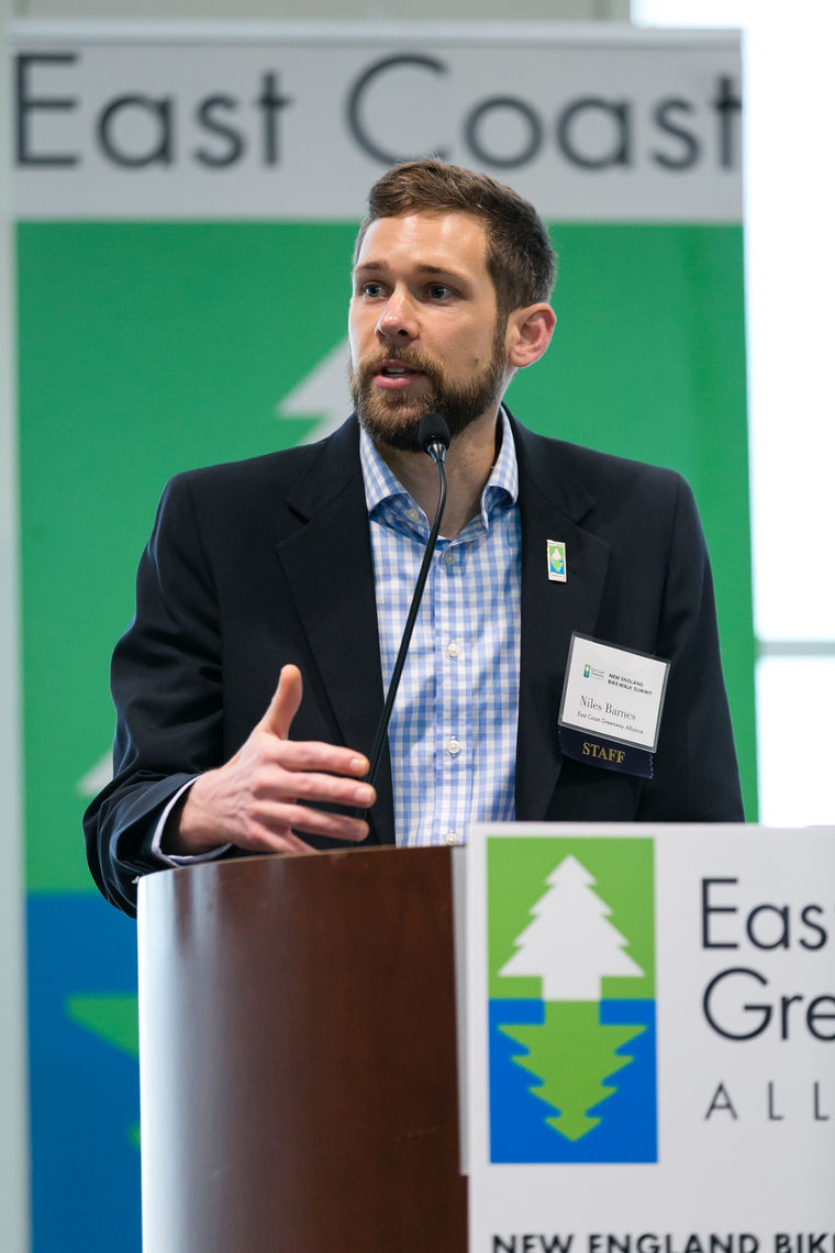 Niles Barnes, Summit event coordinator and deputy director of East Coast Greenway Alliance