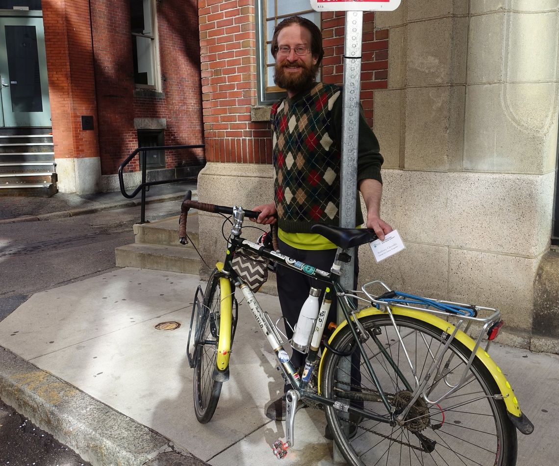 Tony Cherolis of Connecticut biked to the Summit as part of his 3,000-mile East Coast Greenway thru-bike from Calais, ME to Key West, FL.