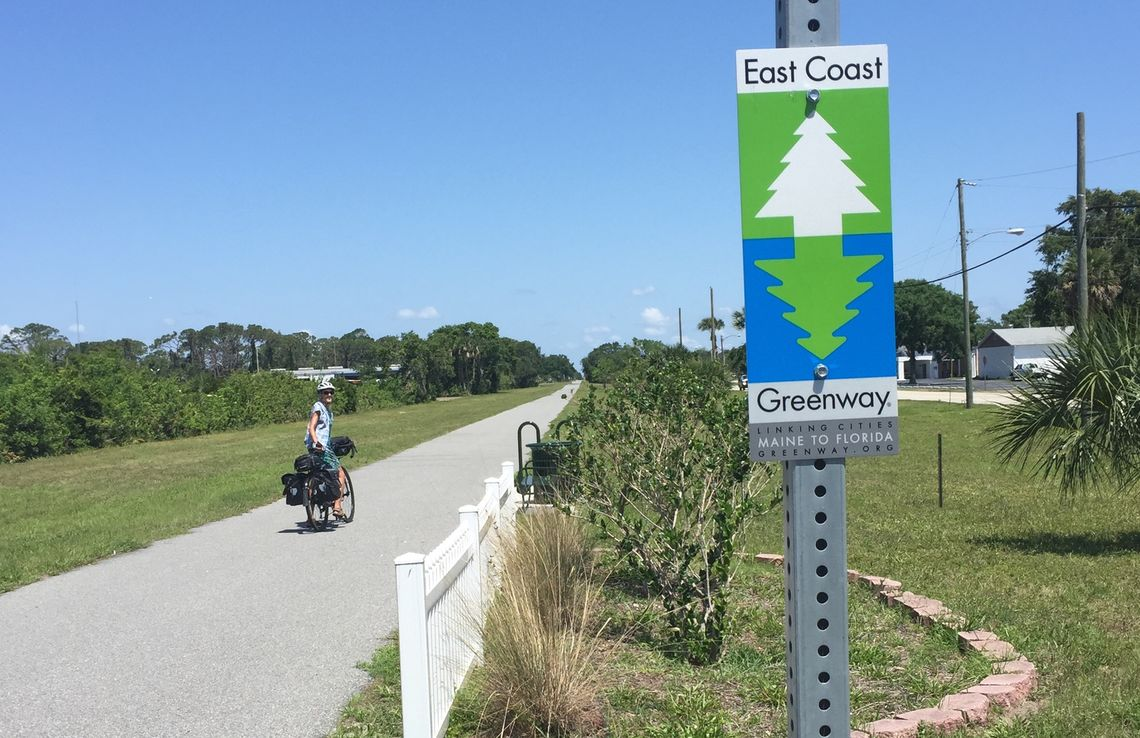 The Greenway in Florida, future home of the 50-mile Core to Coast route in Jacksonville.