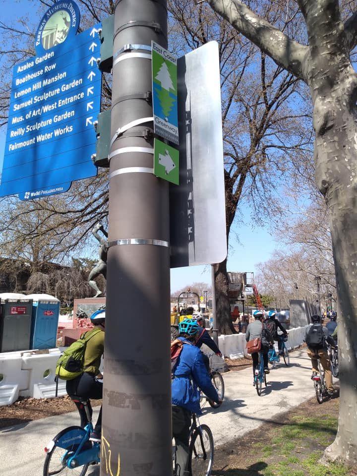 Saturday's City of Neighborhoods tour led by Better Bike Share Partnership Philadelphia's Brenda Hernandez-Torres and Waffiyyah Murray