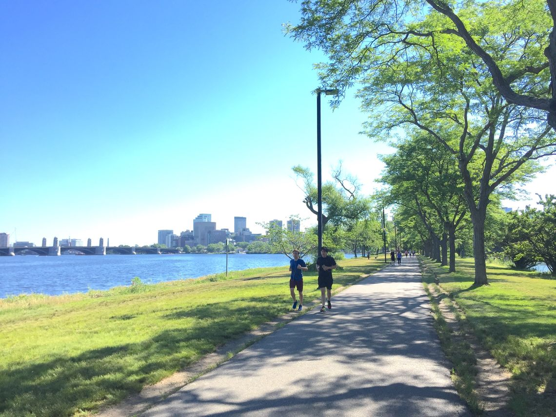 Massachusetts: Charles River Bike Path, Boston-Waltham; 12.5 miles. Join runners, walkers, commuting cyclists and bike-share tourists on this busy east-west winding greenway with great views of the Boston skyline and the campuses of Harvard and MIT.