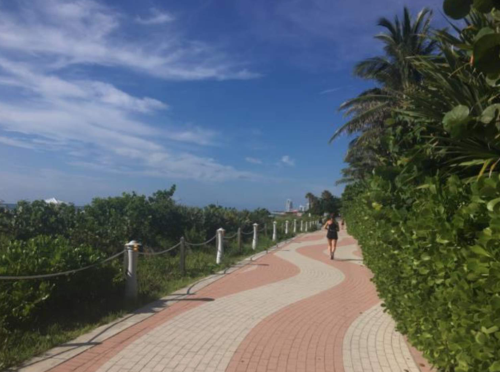 Section of the Atlantic Greenway Network extension. In September the 4.4-mile stretch in Miami Beach became the longest newly designated segment of the East Coast Greenway.