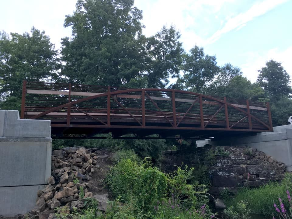 CT: Bridge along Bloomfield Greenway in Bloomfield, 1.8 miles designated.