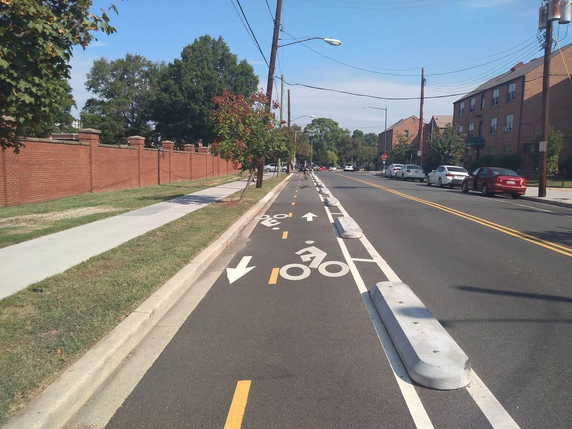 Washington, DC: A half mile of protected bike/ped path in the city's southwest area.