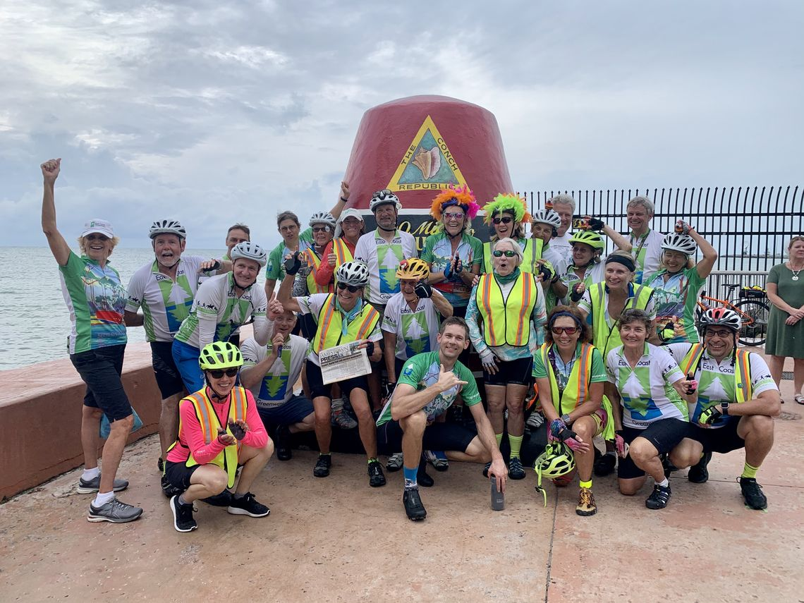 Riders reached the end of the 9-year Week-A-Year Tour on Nov. 15, 2019, in Key West.