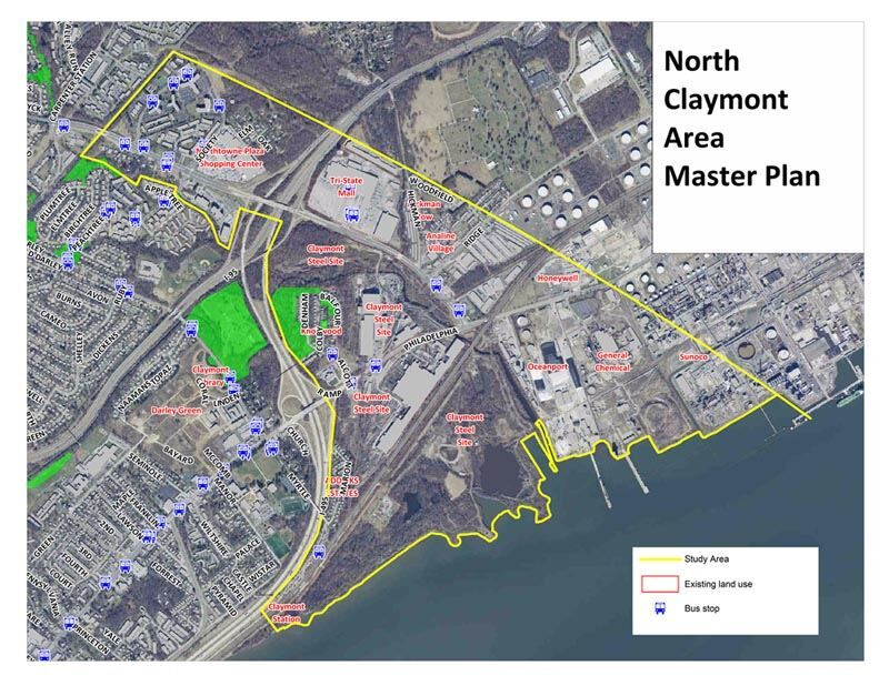 Plans for the North Claymont Greenway in Delaware
