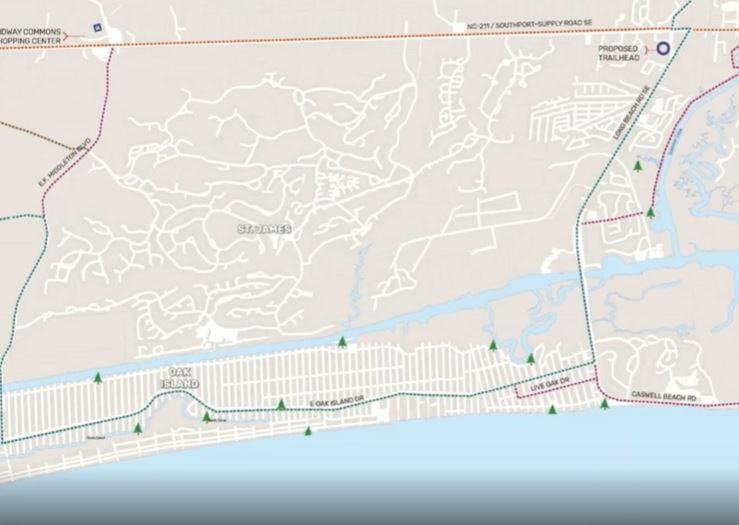 Plans for the possible NC-211 Greenway route